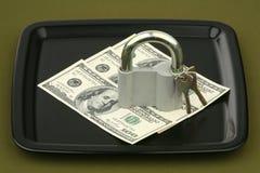 Dollars under the lock Royalty Free Stock Photo