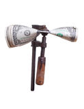 Dollars under pressure in old clamp Stock Image