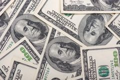 Free Dollars. Us Currency. 100 Dollar Bills Stock Images - 129384454