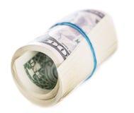 Dollars US D'isolement sur le blanc Photo stock