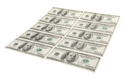 Dollars US dans cru Photos stock