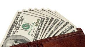 Dollars in uw portefeuille Royalty-vrije Stock Foto