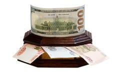 Dollars voor roebels Royalty-vrije Stock Foto's