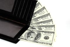 Dollars in a wallet Royalty Free Stock Photography