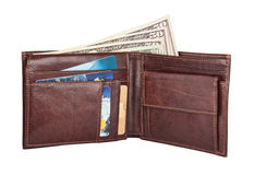 Dollars in Wallet Royalty Free Stock Photography