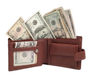 Dollars in wallet Stock Image