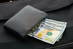 Dollars in a Wallet Stock Photography