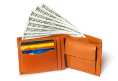 Dollars in the wallet Stock Photo