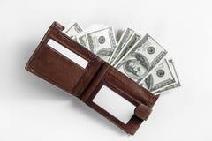 Dollars in wallet Royalty Free Stock Photos