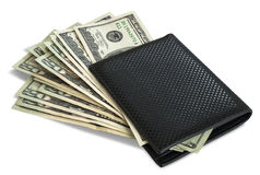 Dollars in wallet Stock Photo