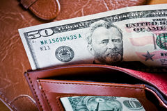 Dollars in a wallet Royalty Free Stock Image