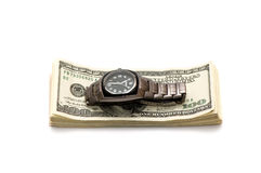 Dollars and watch Royalty Free Stock Photo