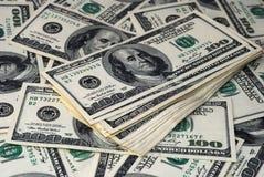 Dollars  on white Royalty Free Stock Photo