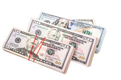 Dollars on white Royalty Free Stock Photos