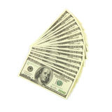Dollars on white background Stock Photos