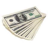 Dollars on white background Stock Image