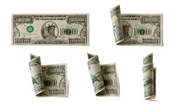 Dollars on white background, isolated objects on w Royalty Free Stock Photos