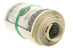 Dollars on white Royalty Free Stock Image
