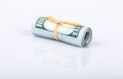 Dollars on white Stock Images