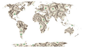 Dollars world map Stock Photo