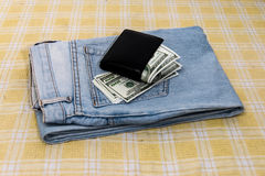 Dollars in your pocket. Royalty Free Stock Image