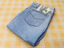 Dollars in your pocket. Royalty Free Stock Photos