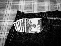 Dollars in your pocket. Stock Photography