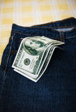 Dollars in your pocket. Stock Image