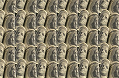 Dollarsachtergrond Royalty-vrije Stock Foto's