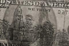 100 dollarsbankbiljetten Stock Foto's