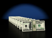 100 Dollarsbankbiljetten Stock Afbeeldingen