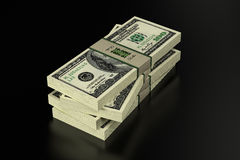 100 Dollarsbankbiljetten Stock Illustratie