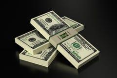 100 Dollarsbankbiljetten Royalty-vrije Stock Afbeelding