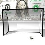 Dollarscheibe in den Krägen Lizenzfreie Stockfotos