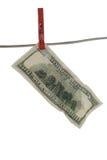 100 Dollarschein Stockfotos