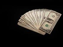 Dollarschein auf einem schwarzen Hintergrund Lizenzfreies Stockbild