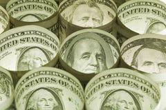 Dollarschein-Geldhintergrund Stockfoto