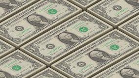 Dollarschein-Geldhintergrund Porträt der George Washington Printing-Geldschleife stock video footage