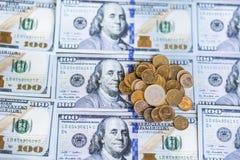 100 Dollarschein-Hintergrund Lizenzfreie Stockbilder