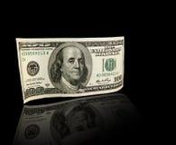 Dollarschein US hundert Stockfoto