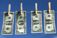 Dollarscheine Lizenzfreie Stockfotos