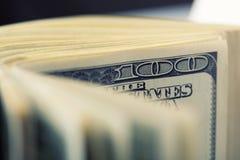 $100 Dollarscheine Lizenzfreie Stockfotos