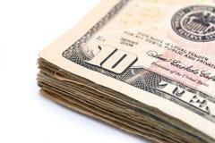 10 Dollarscheine Lizenzfreies Stockbild