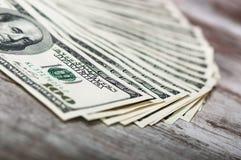 100 Dollarscheine Lizenzfreies Stockfoto