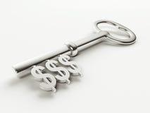 Dollarschlüssel Stockfotografie