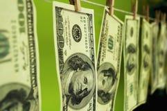 Dollarsgeld op chromakey Stock Afbeeldingen