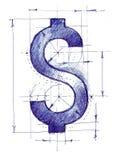 Dollarsign draft Royalty Free Stock Image