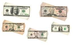 Dollarsinzameling stock afbeelding