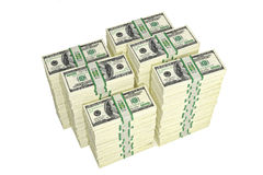100 Dollarsrekeningen Stock Afbeelding
