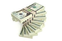 20 Dollarsrekeningen Royalty-vrije Stock Fotografie